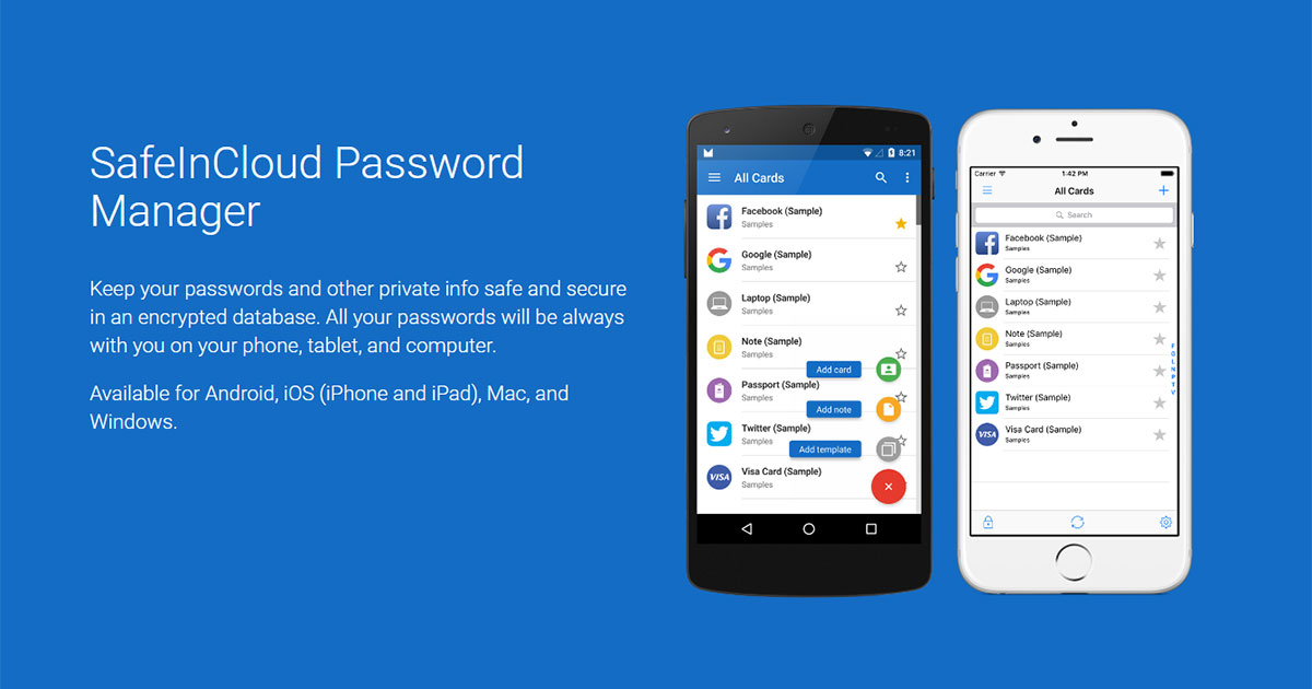 SafeInCloud: Tool Cloud per la gestione delle password