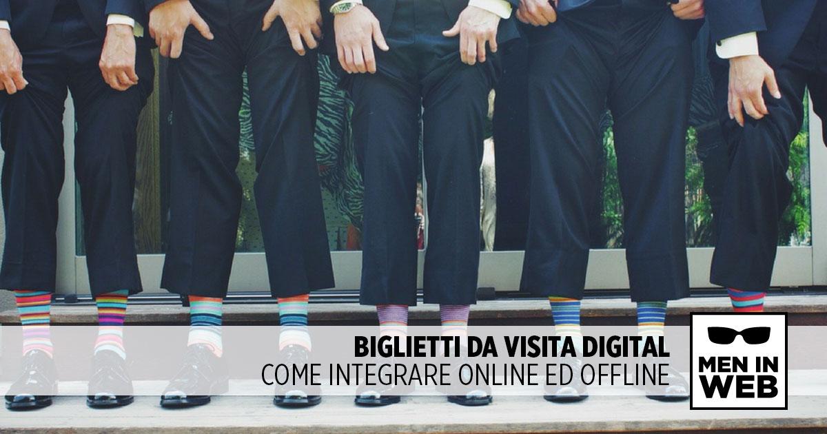 Biglietti da visita digital: come integrare online e offline