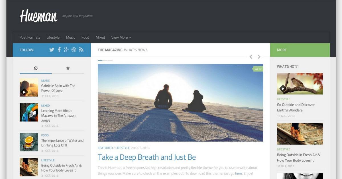 WordPress: Template Hueman