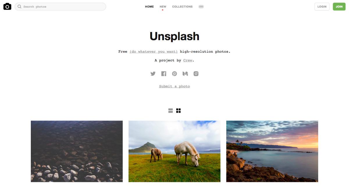 Stock Photography free su Unsplash