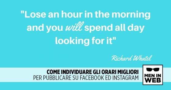 Come individuare gli orari migliori per pubblicare su Facebook ed Instagram?